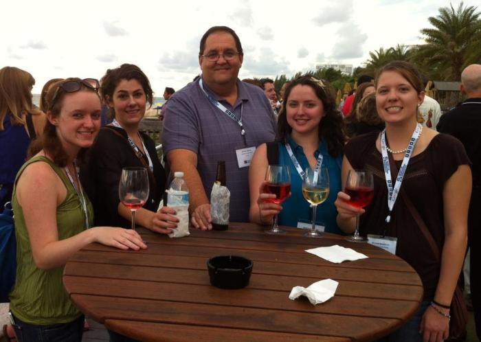 EIJ12 Welcome Reception: USF SPJ with our genius professor!