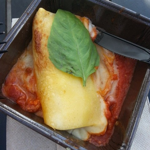 Three cheese manicotti from Italy.